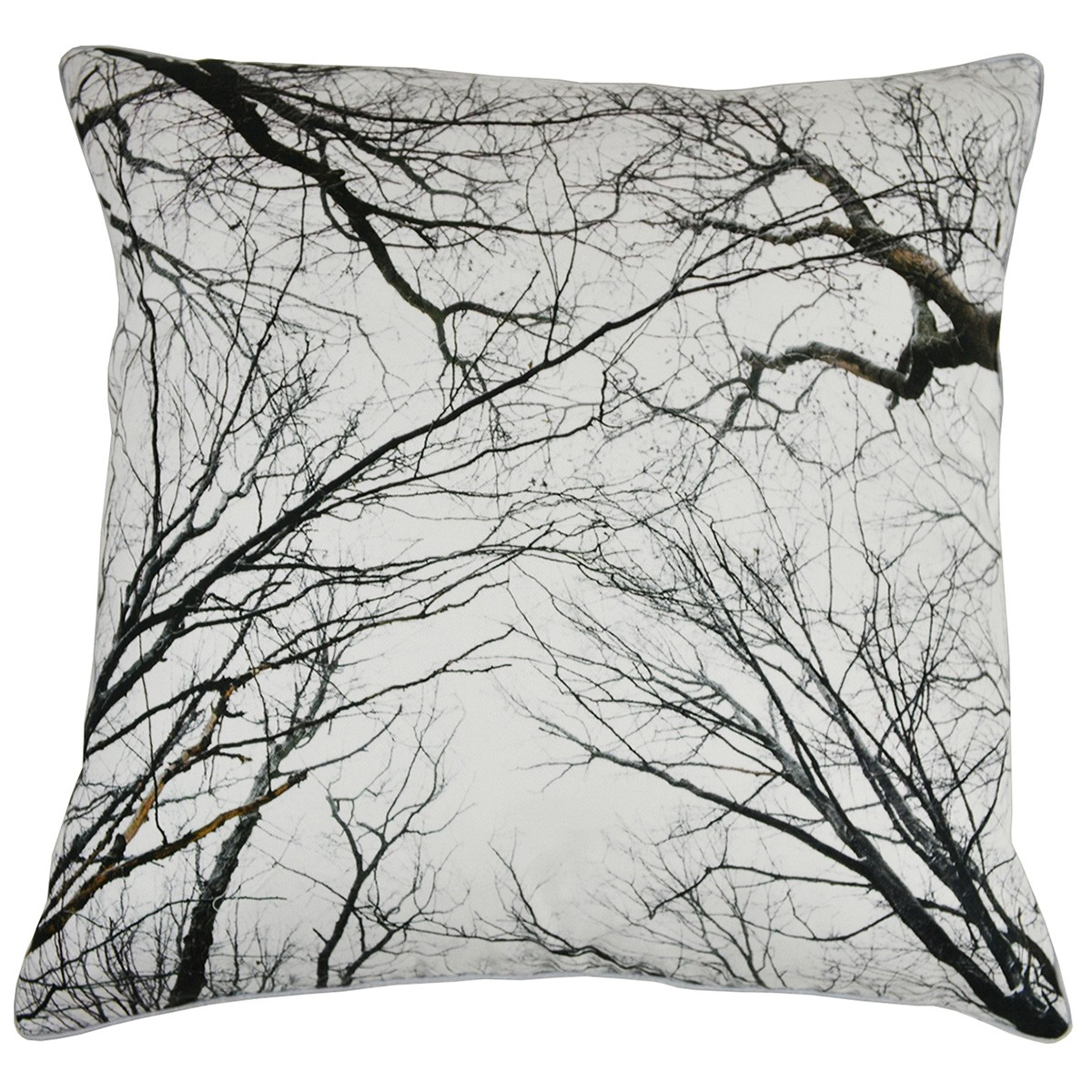 Tree Branches Printed Cotton Scatter Cushion