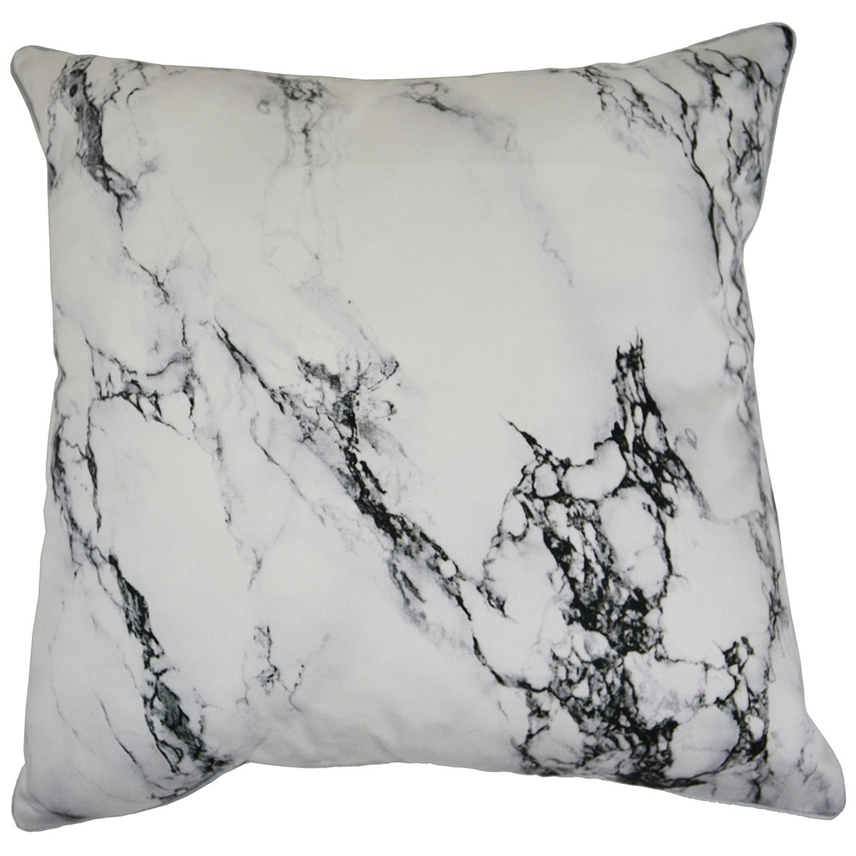 White Marble Printed Cotton Scatter Cushion