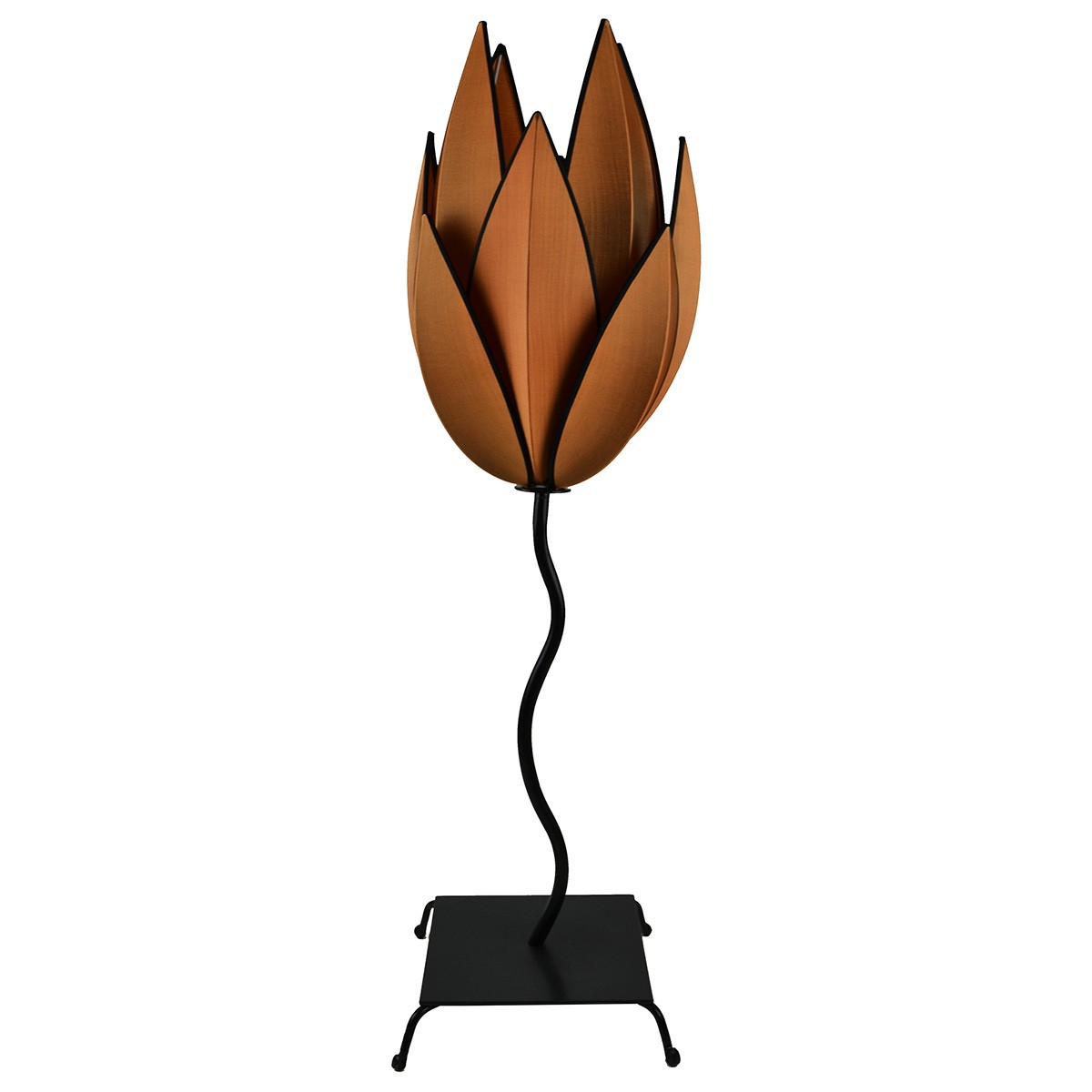 Rovan Silk Artichoke Floor Lamp, Small, Copper