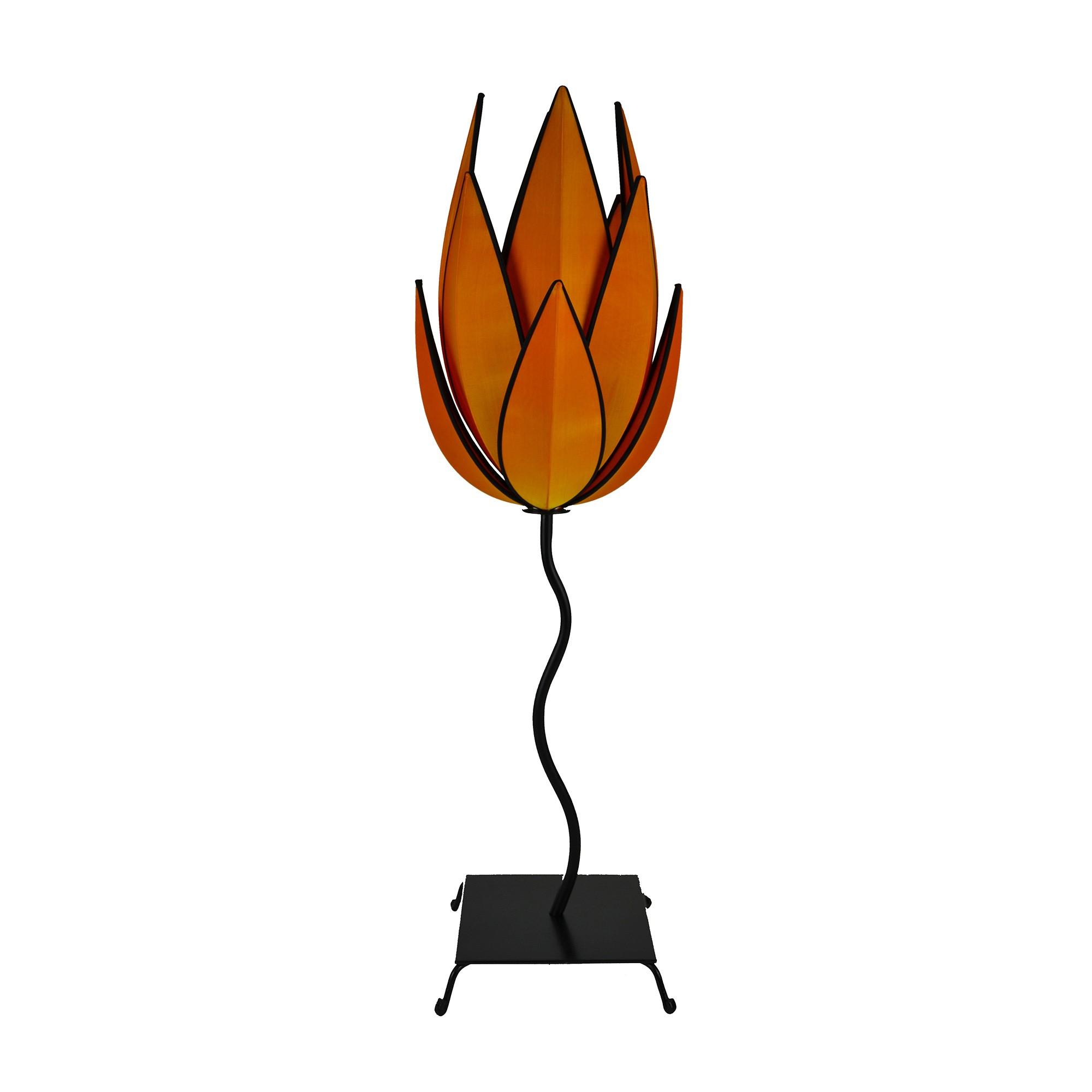 Rovan Silk Artichoke Floor Lamp, Small, Orange