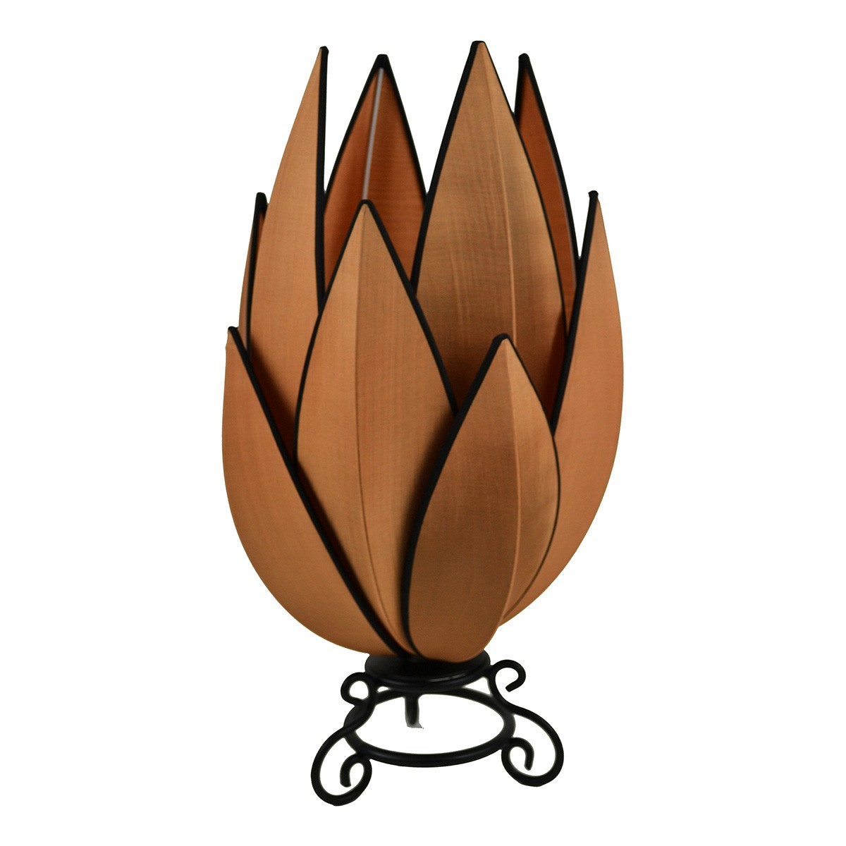 Rovan Silk Artichoke Table Lamp, Copper
