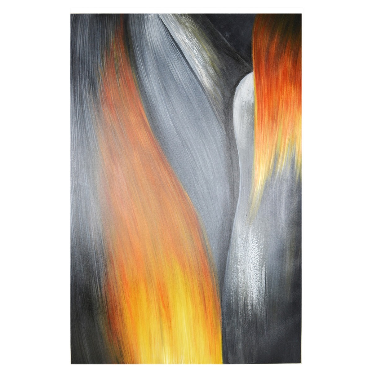 Streched Canvas Abstract Painting Wall Art, Flame, 120cm