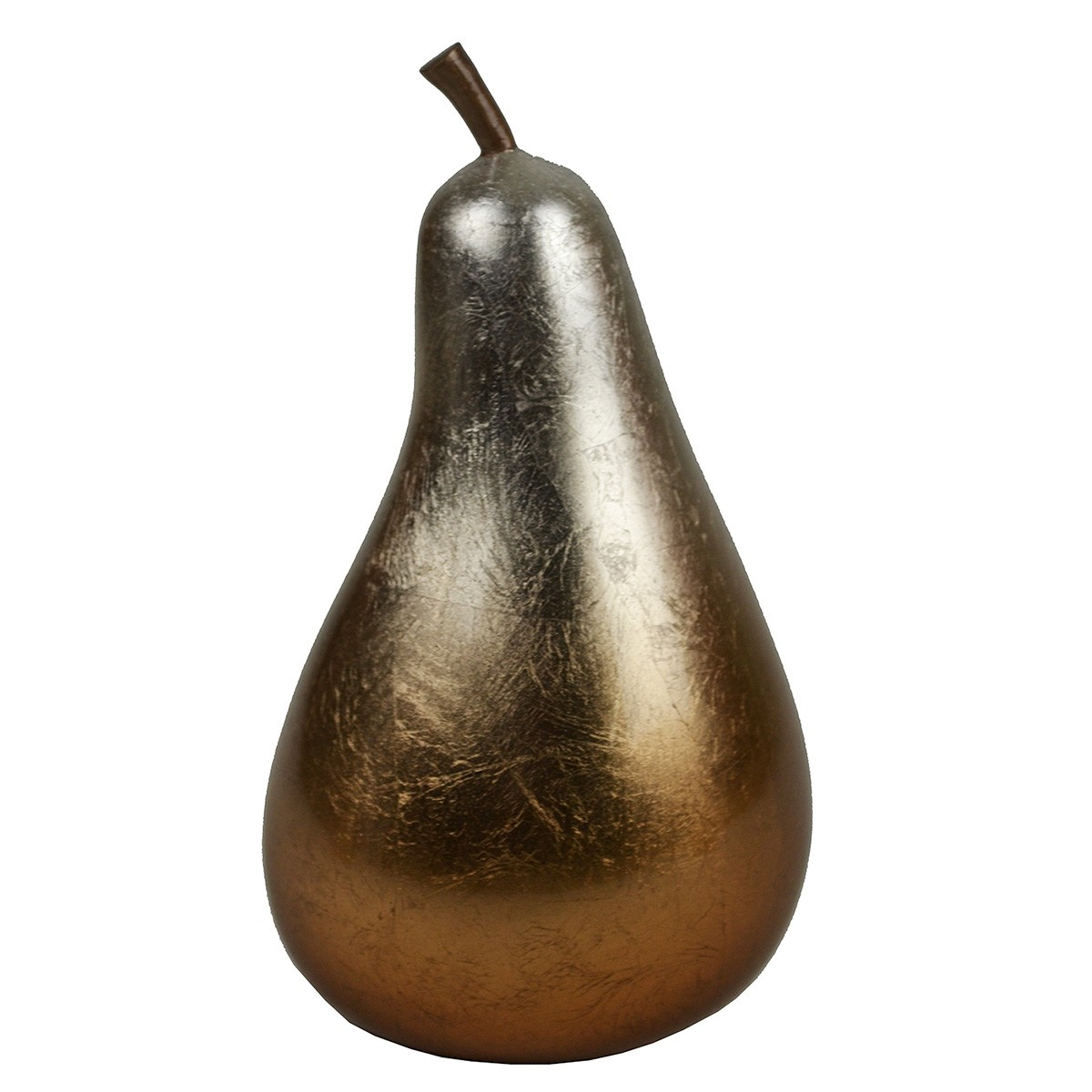 Parri Lacquered Polyresin Pear Decor, Small, Copper