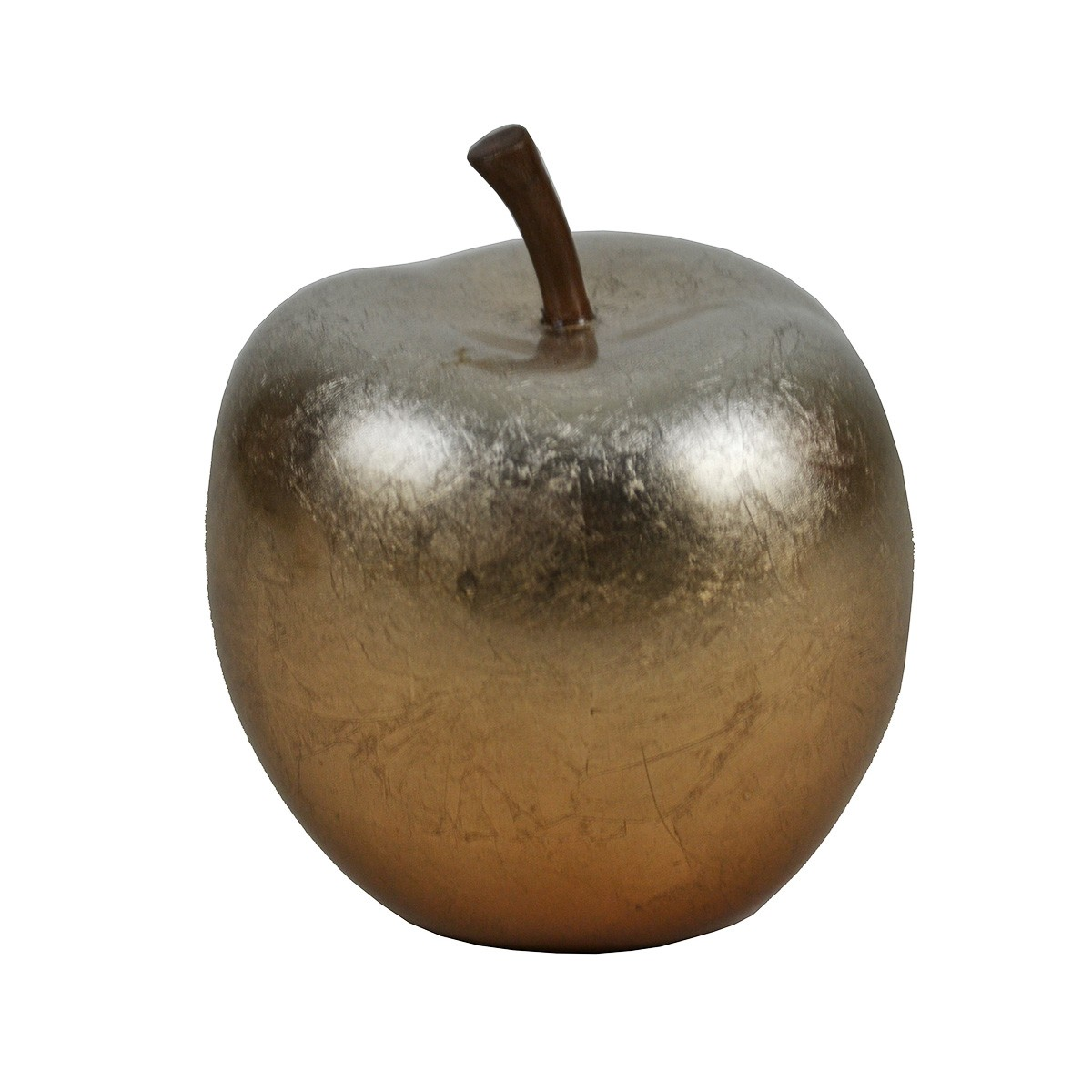 Parri Lacquered Polyresin Apple Decor, Small, Copper