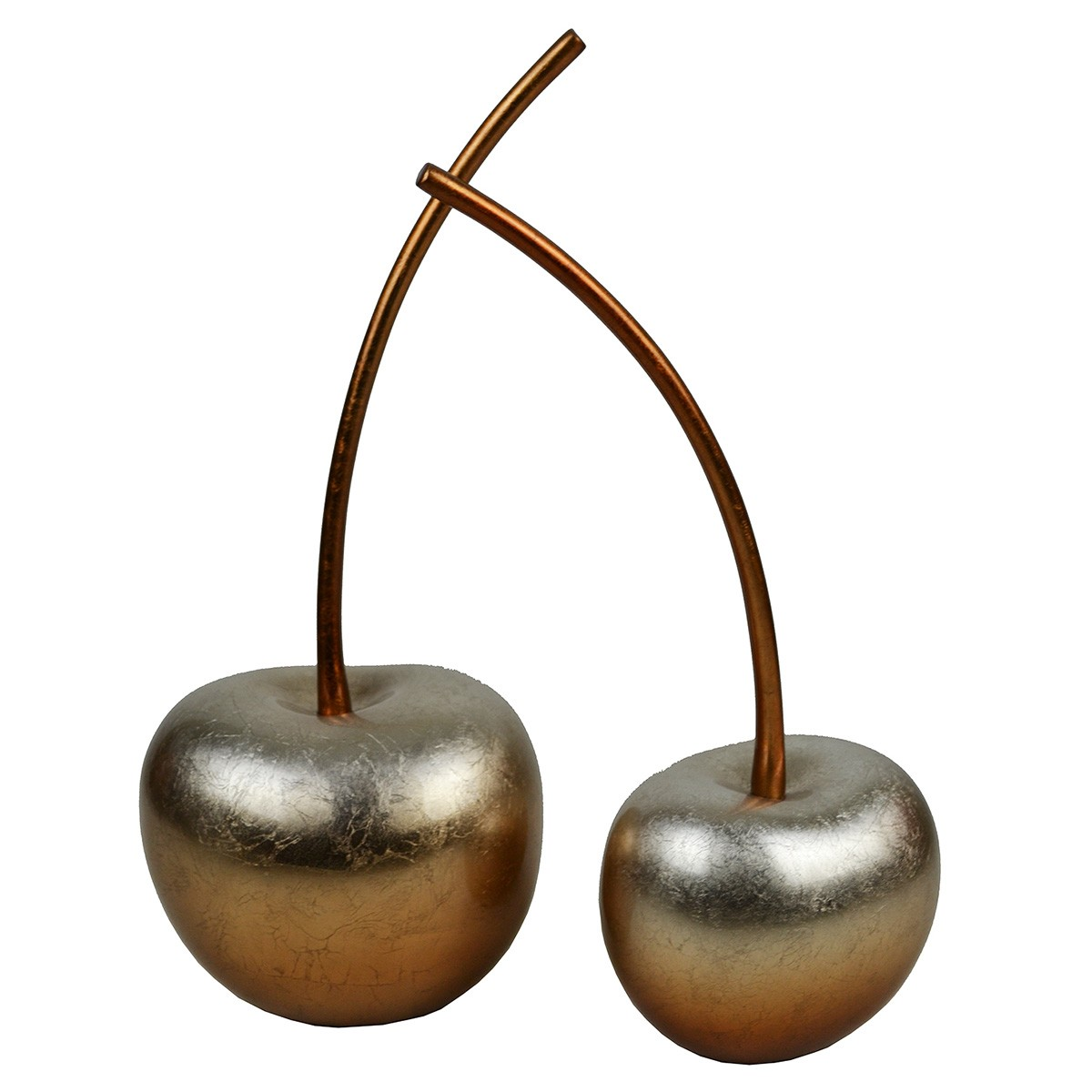 Parri 2 Piece Lacquered Polyresin Cherry Decor Set, Copper