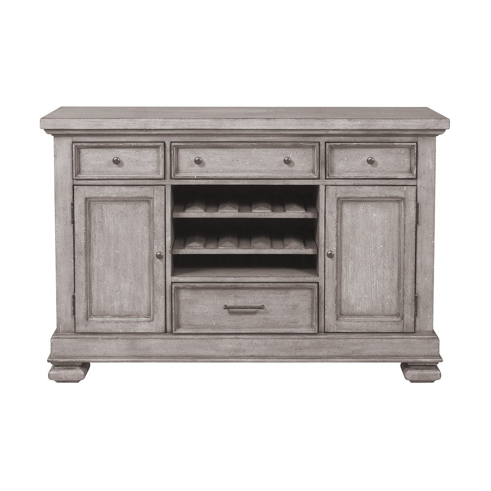 Prospect Hill Oak Timber 2 Door 4 Drawer Sideboard, 137cm