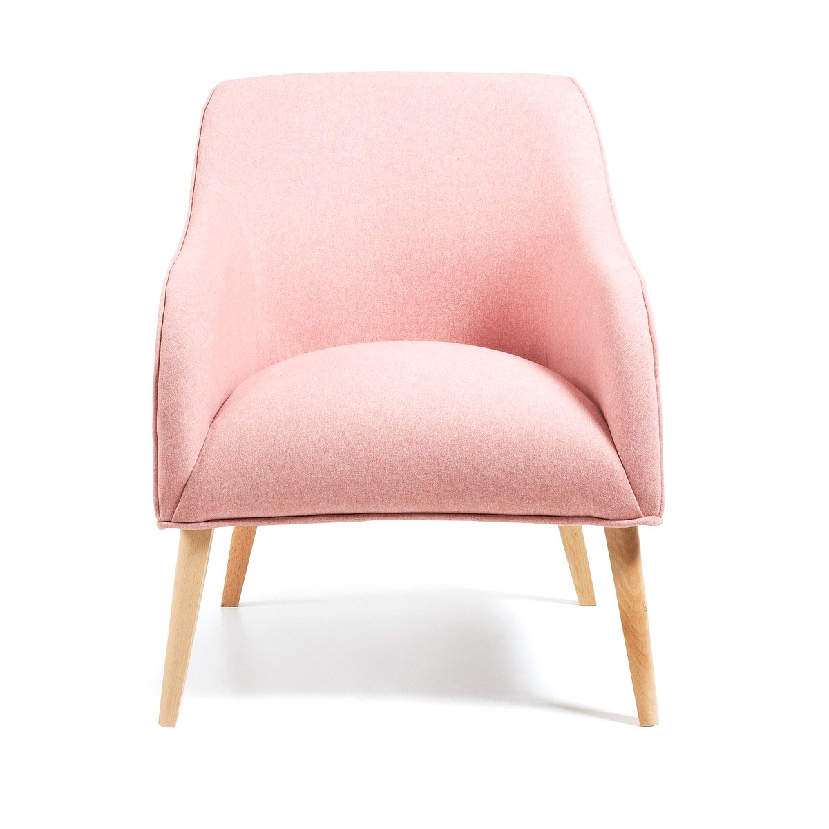 Lura Fabric Lounge Armchair, Pink