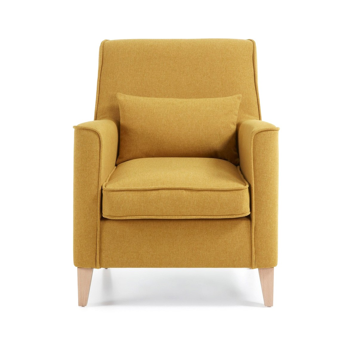 Amicis Fabric Lounge Armchair, Mustard