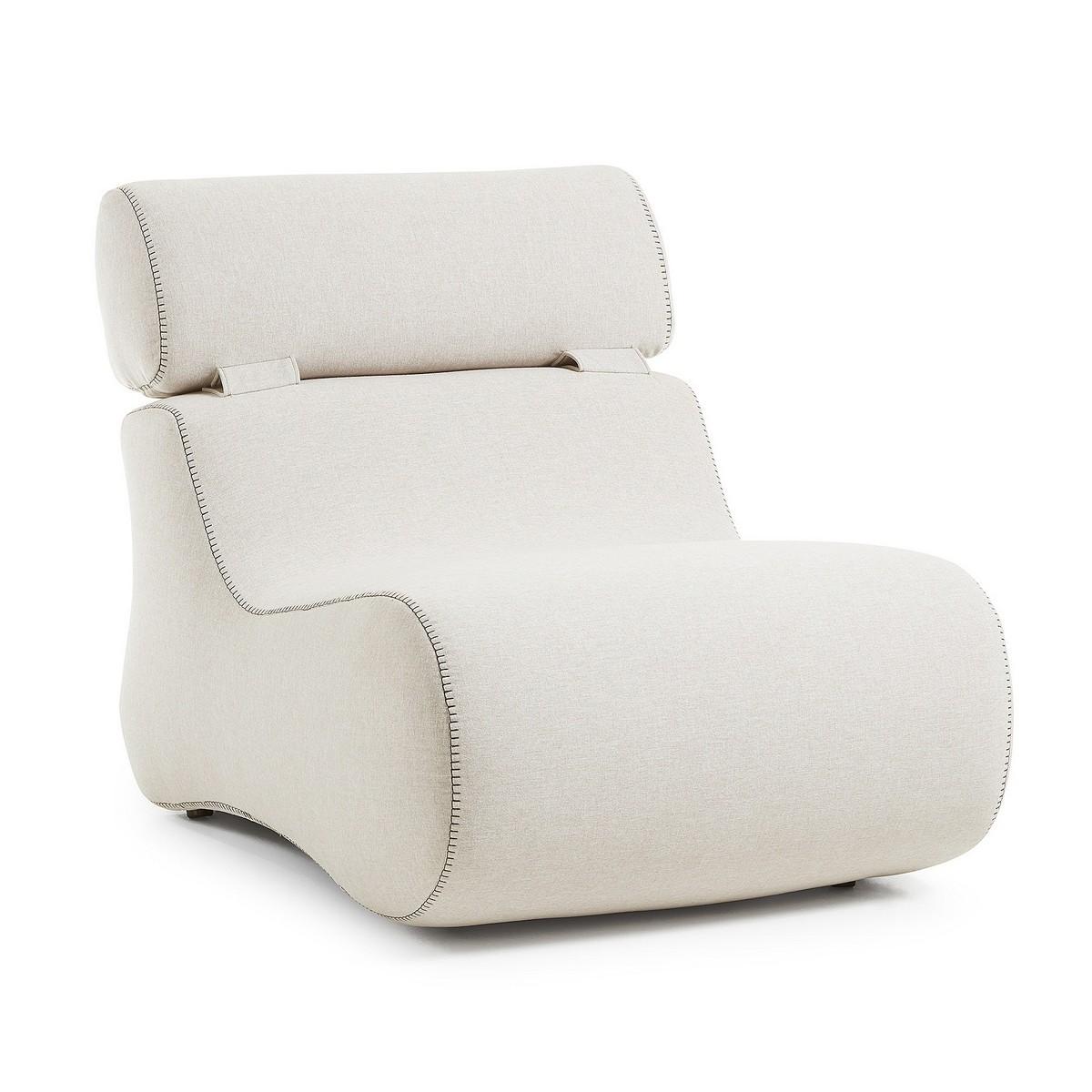 Novella Fabric Lounge Chair, Beige