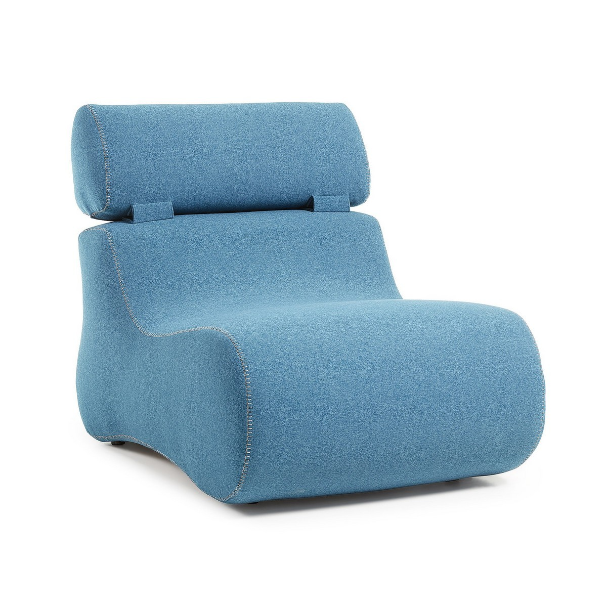 Novella Fabric Lounge Chair, Denim Blue