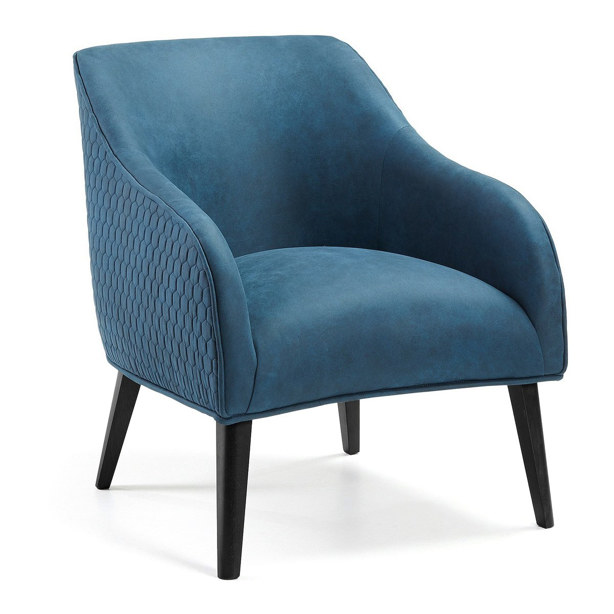 Lura II Fabric Lounge Armchair, Blue