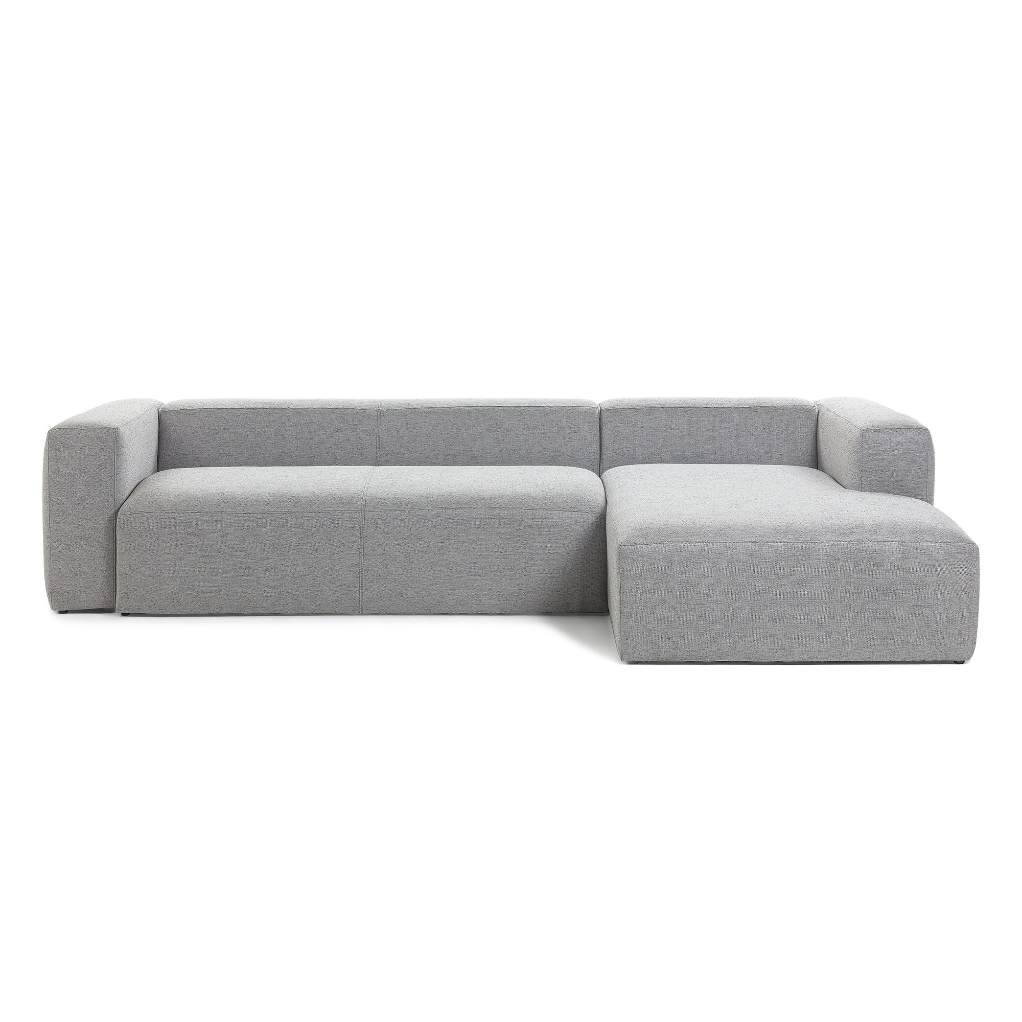 Lorton Fabric Corner Sofa, 2 Seater with RHF Chaise, Light Grey