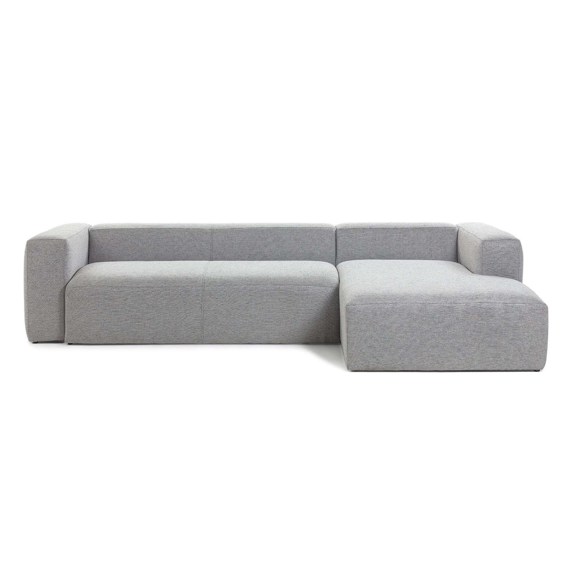 Lorton Fabric Corner Sofa, 2 Seater with RHF Chaise, Light Grey