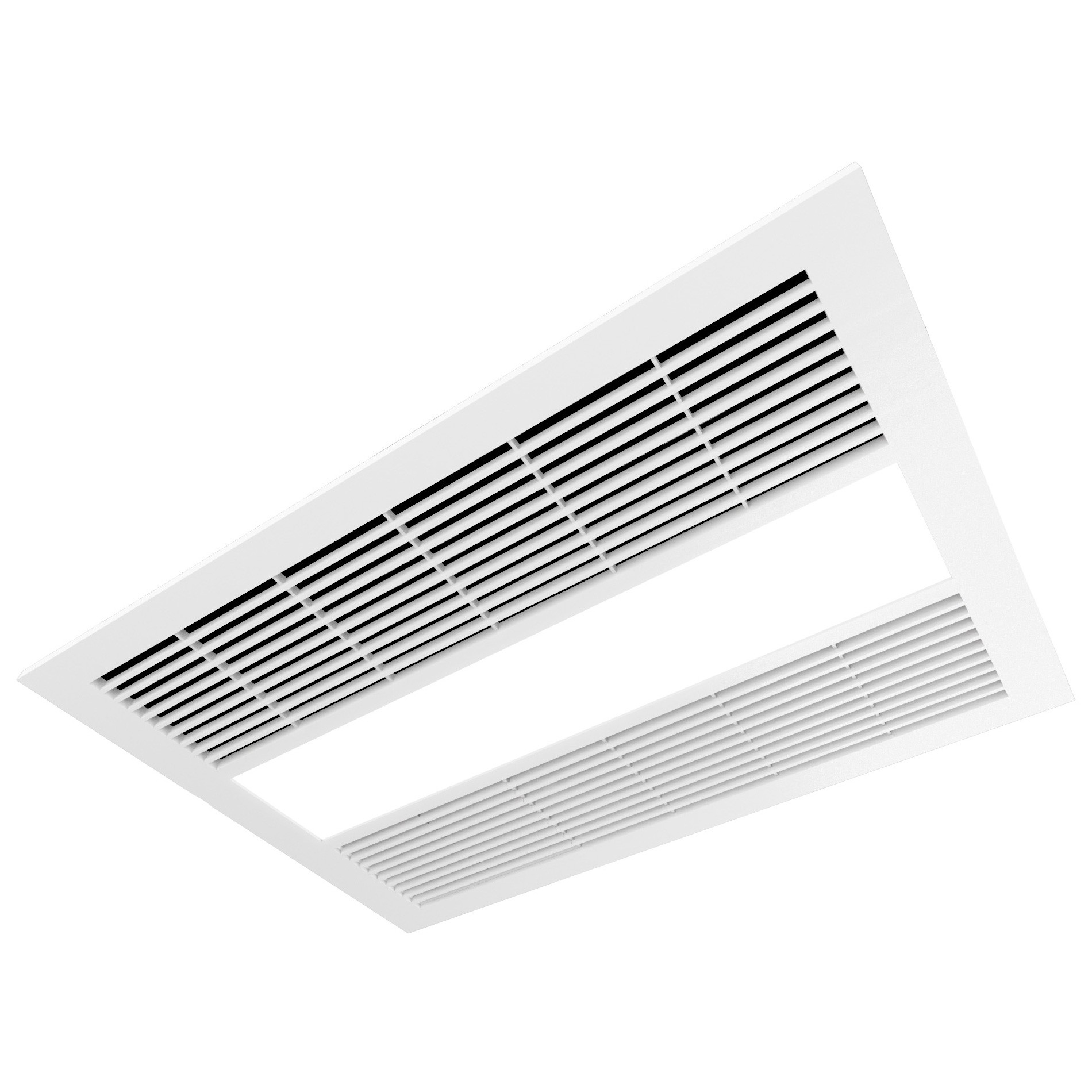 Ventair Sahara Ultra Slim 4-in-1 Fan Bathroom Heater with Exhaust & LED Panel Light, White