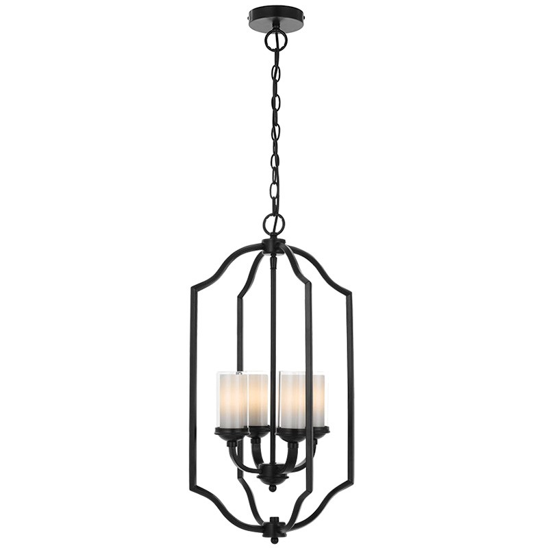 Saltram Metal Pendant Light, Black