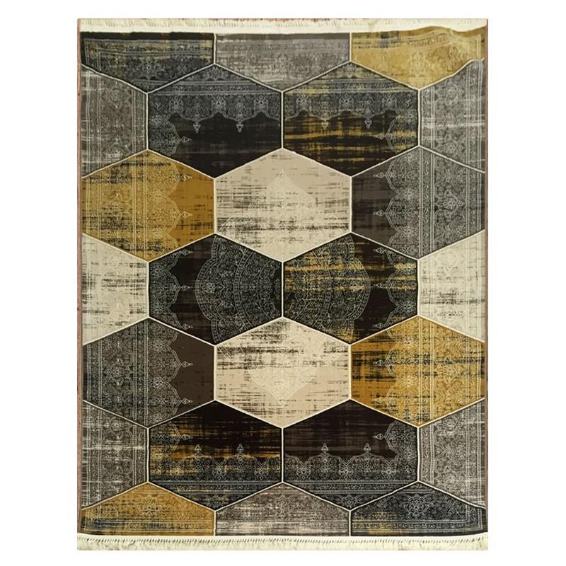 Apollo Hexago Modern Rug, 80x150cm, Brown