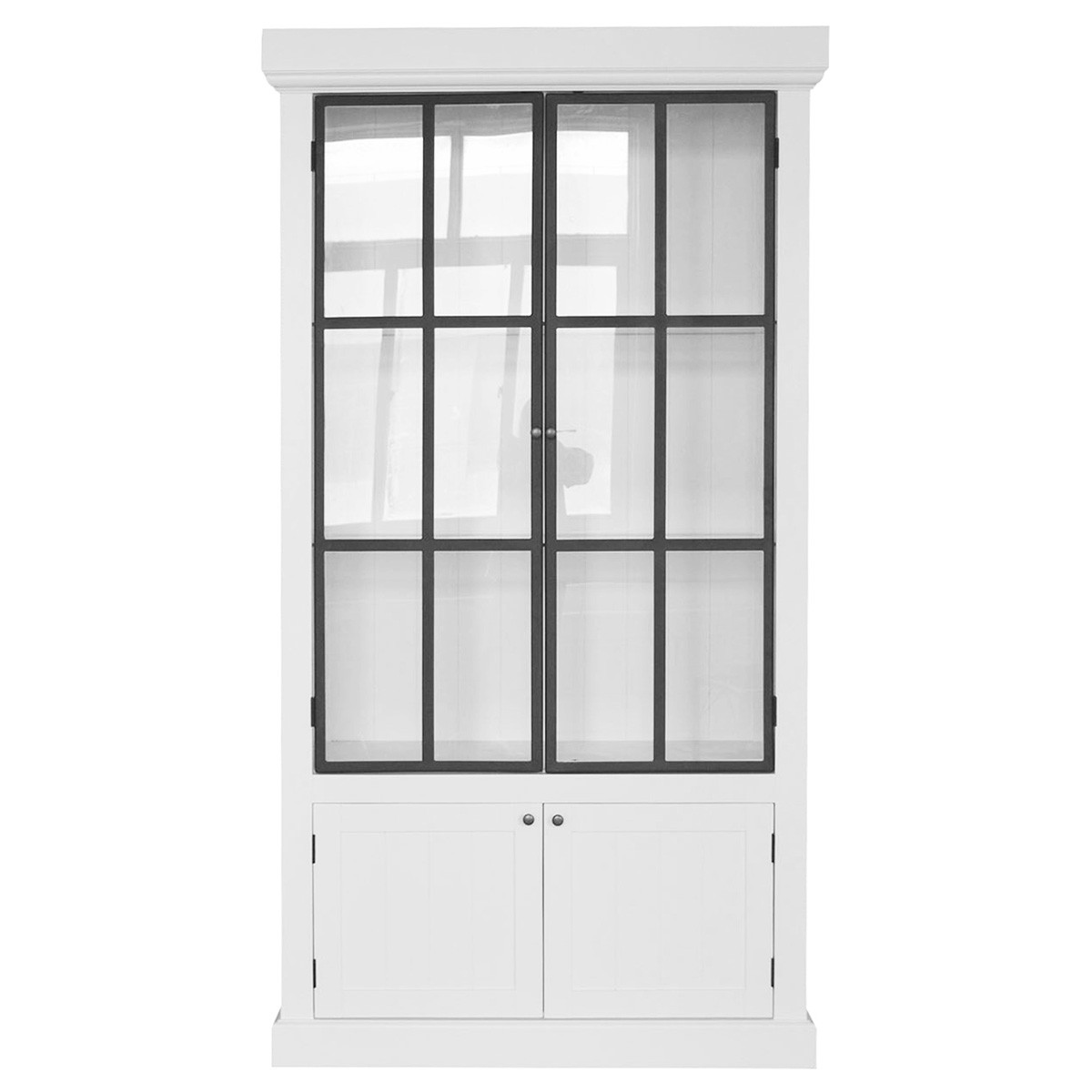 Winston Birch Timber 4 Door Display Cabinet, White