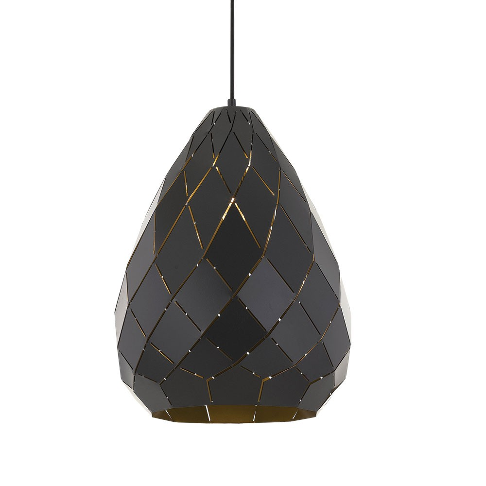 Simon Metal Pendant Light, Large, Gunmetal
