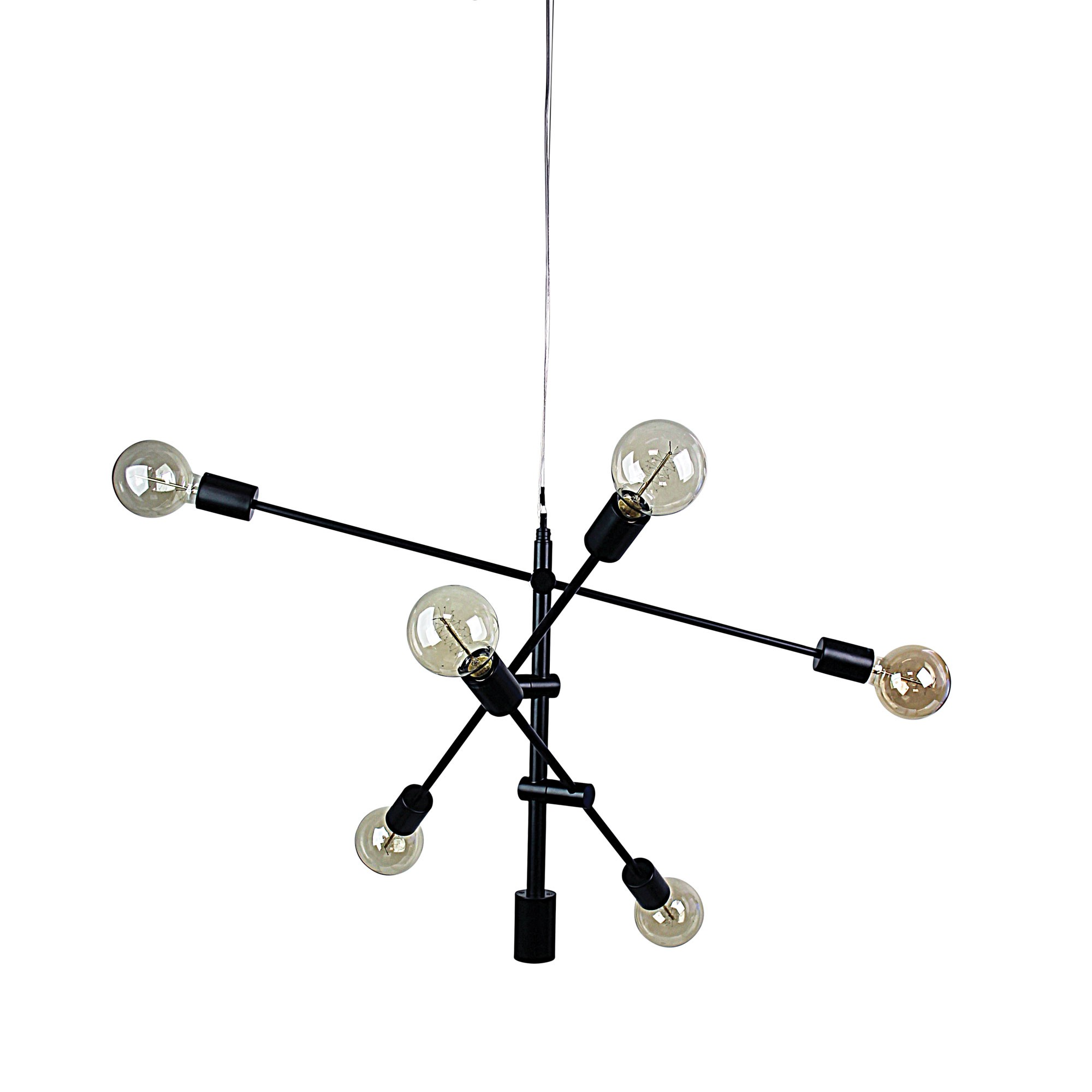 Chelsea Metal Satellite Pendant Light, Small, Matt Black
