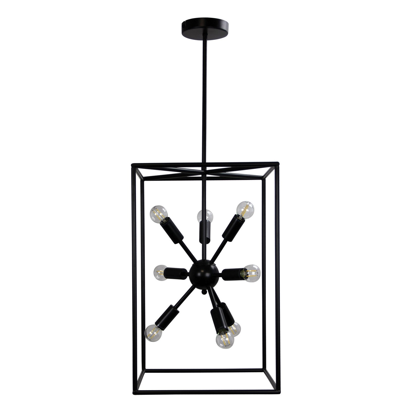 Georgetown Vertical Metal Box Pendant Light