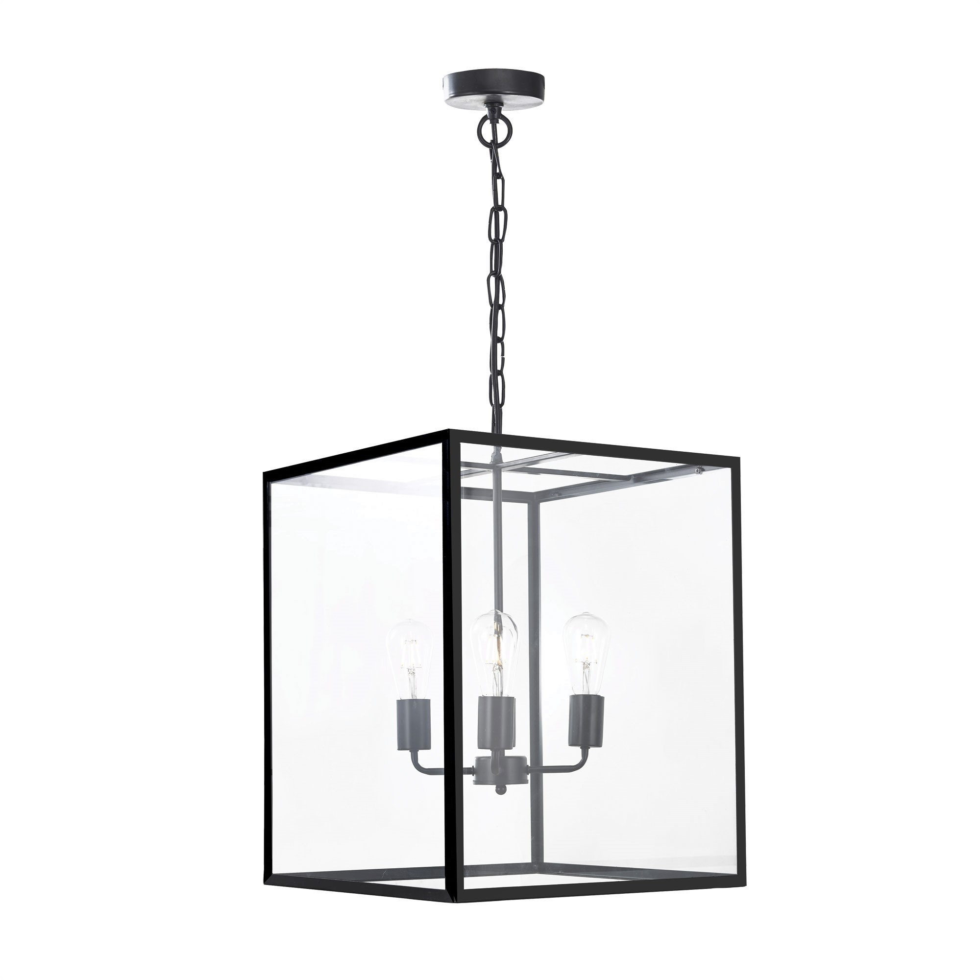 Hampton Metal & Glass Pendant Light