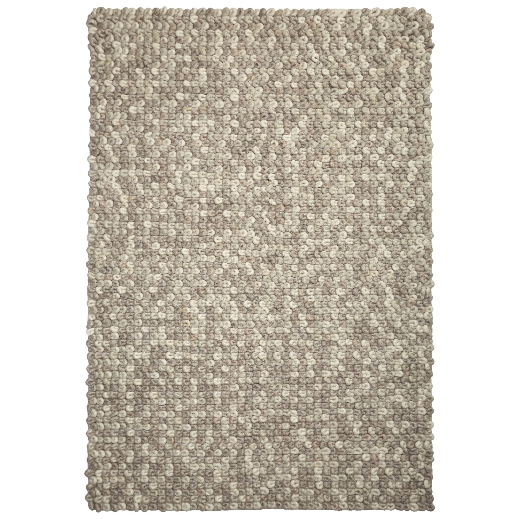 Sleeping Loop Wool Rug, 330x240cm, Latte
