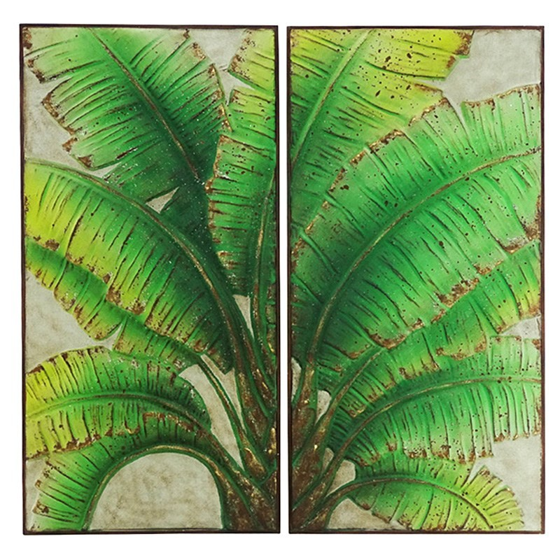 Palmas 2 Piece Metal Wall Art Set