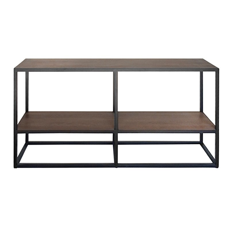 Prato Solid Oak Timber and Metal Console Table