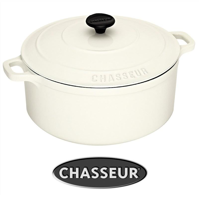 Chasseur Cast Iron 24cm Round French Oven - Brilliant White