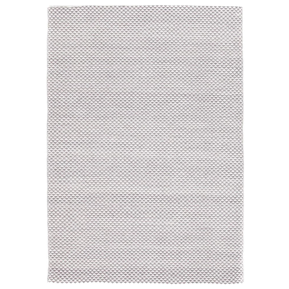Spirit Finn Flat Woven Triangles Cotton Rug, 150x220cm, Grey