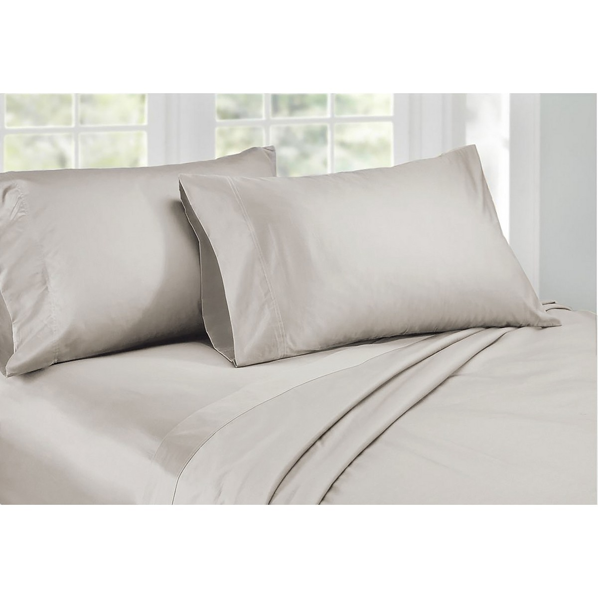 Ardor 1000TC Cotton Rich Sheet Set, King, Silver