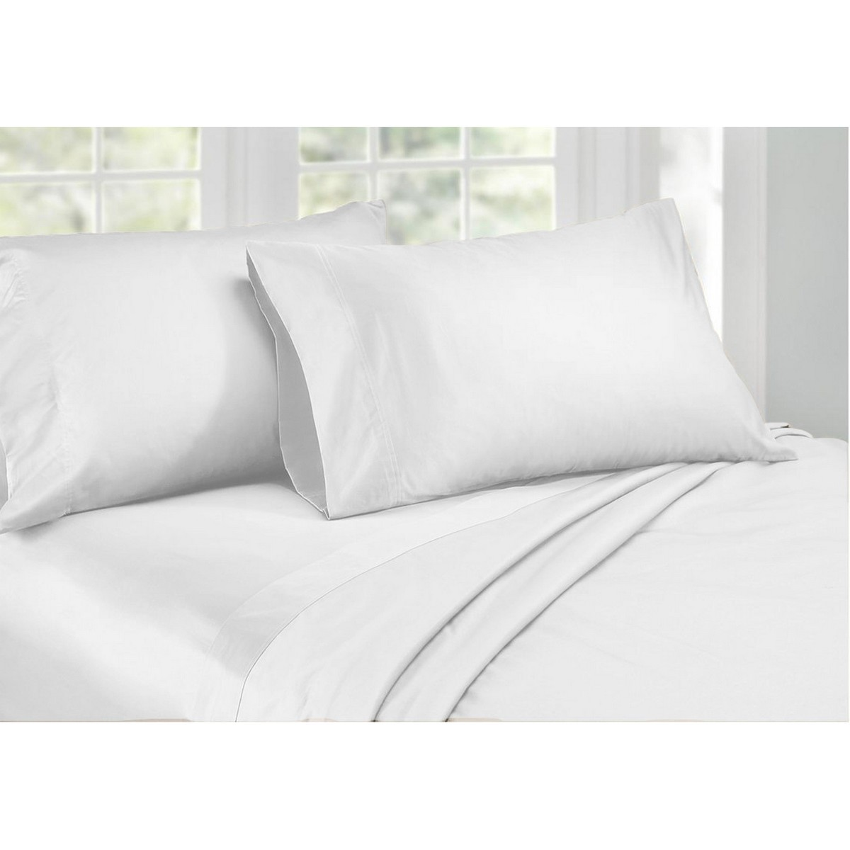 Ardor 1000TC Cotton Rich Sheet Set, King, White