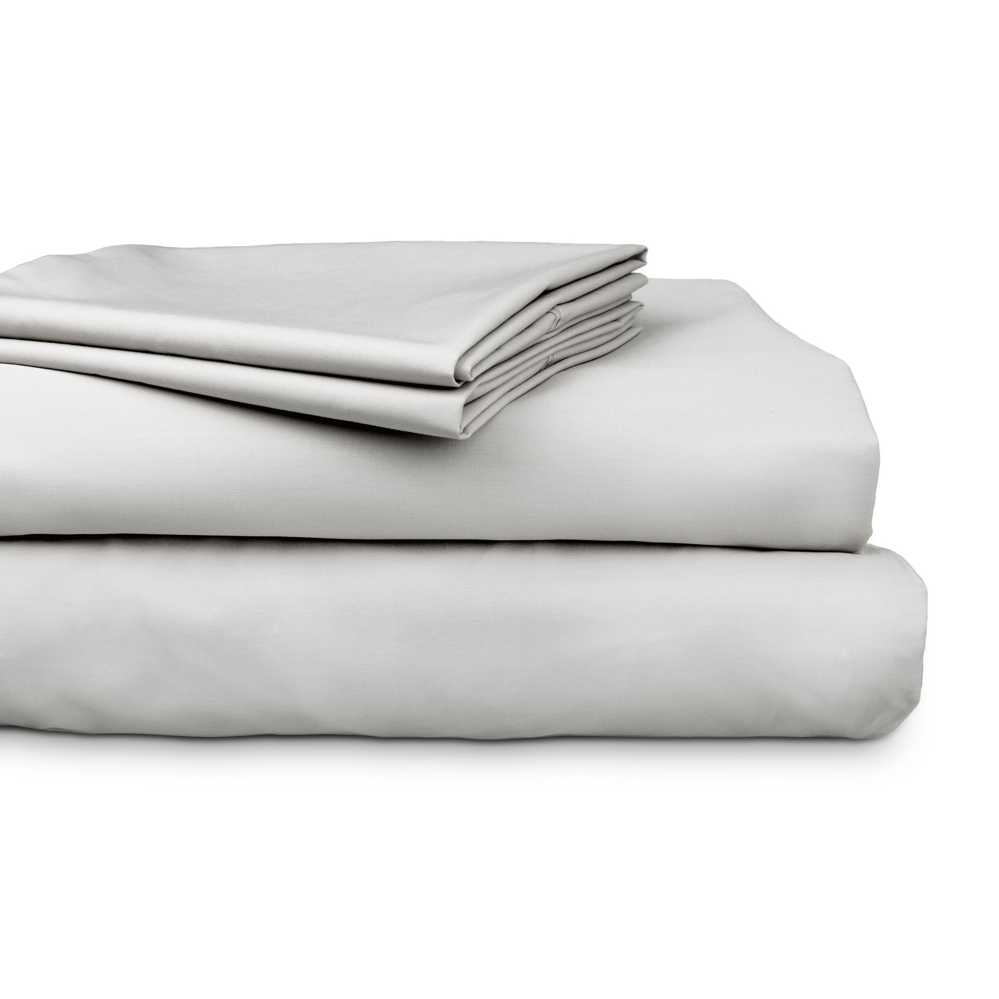 Ajee 4 Piece 300TC Cotton Sheet Set, Double, Silver