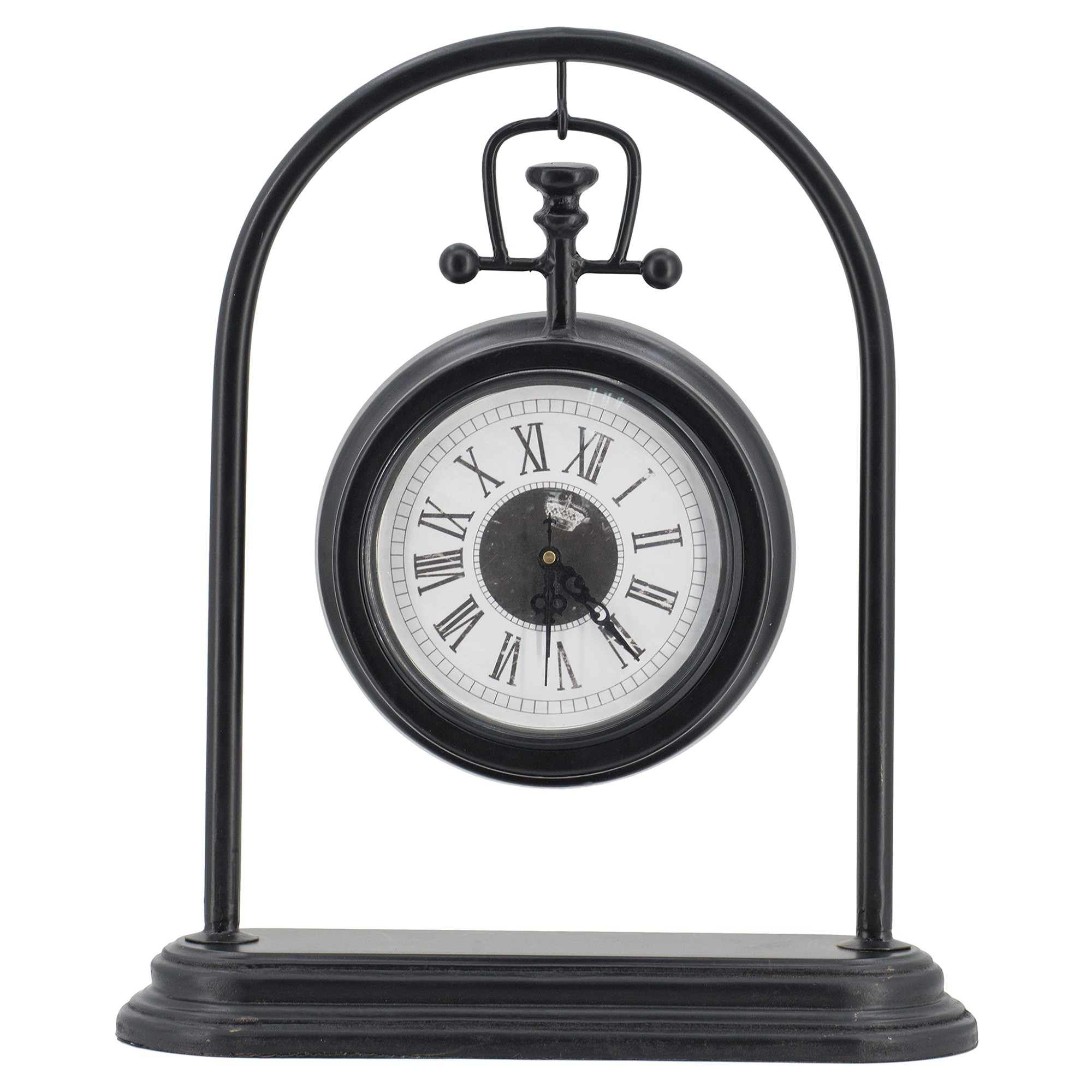 Edera Metal Hanging Fob Desk Clock