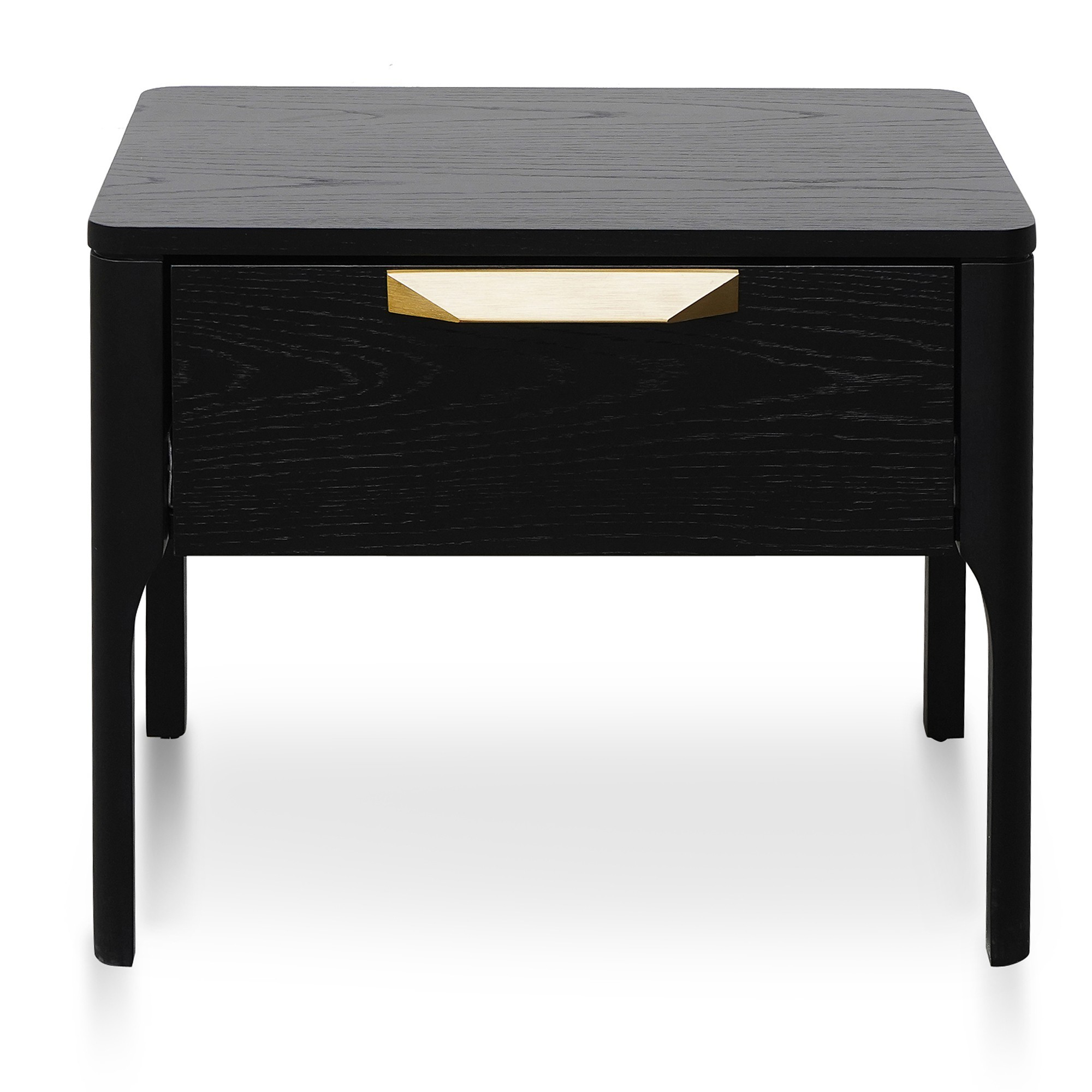 Rognan Wooden Bedside Table, Black