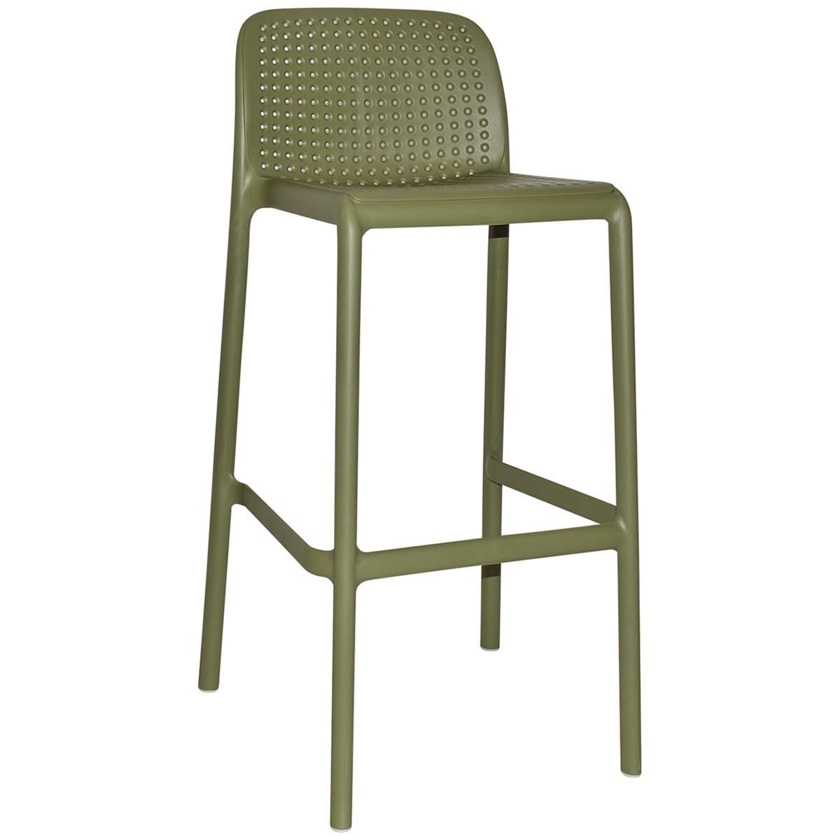 Bora Italian Made Commercial Grade Stackable Indoor / Outdoor Bar Stool , Avage