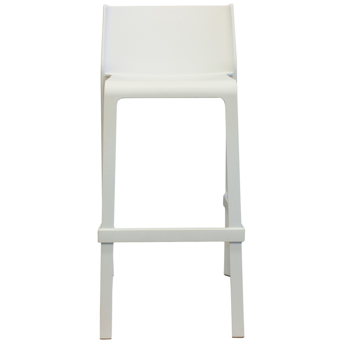 Trill Italian Made Commercial Grade Indoor / Outdoor Bar Stool, White
