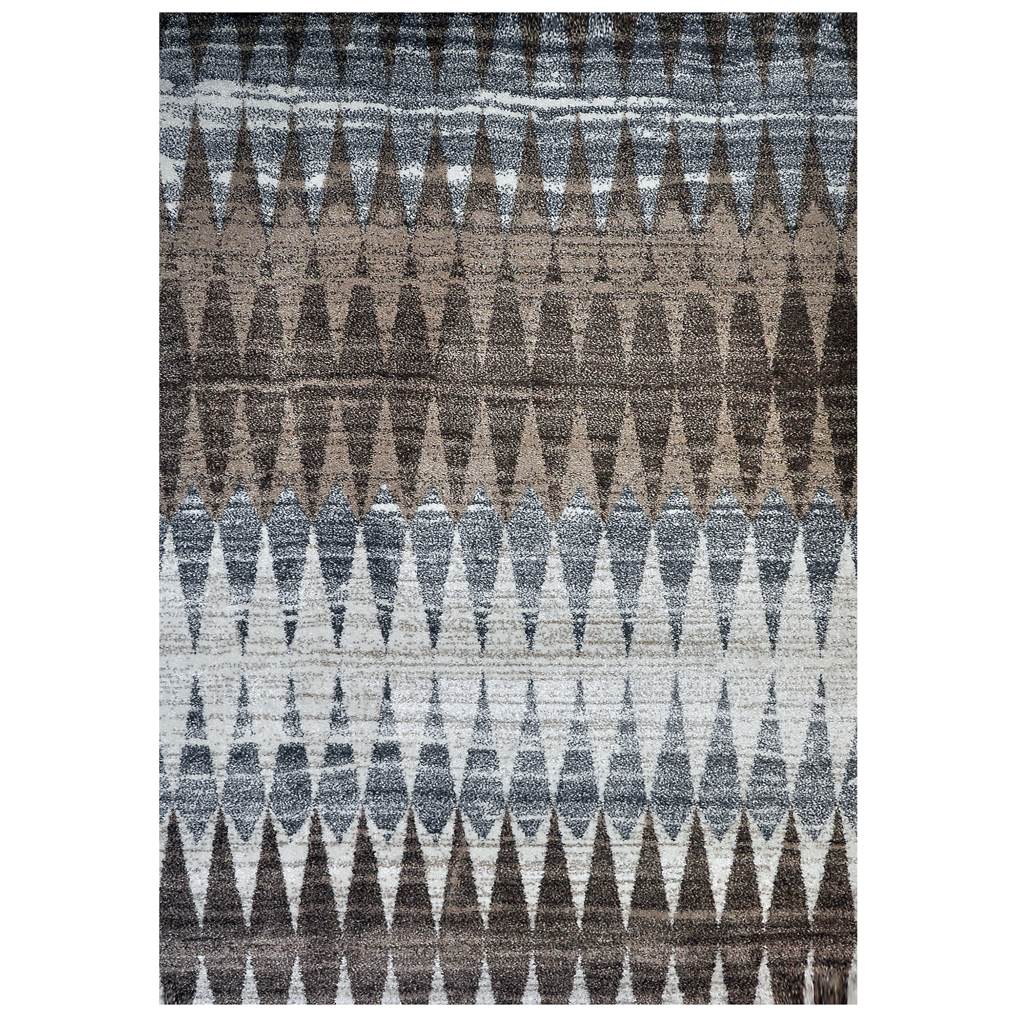 Studio Graham Turkish Made Modern Rug, 150x80cm, Brown / Blue / Ivory