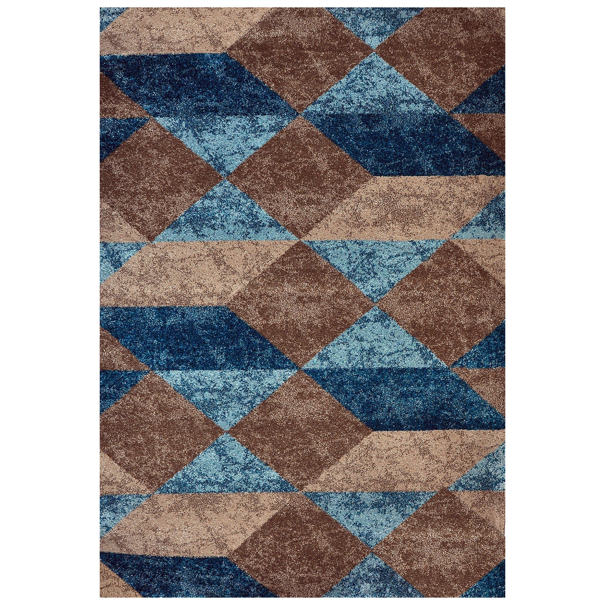 Studio Lathan Turkish Made Modern Rug, 330x240cm, Brown / Blue