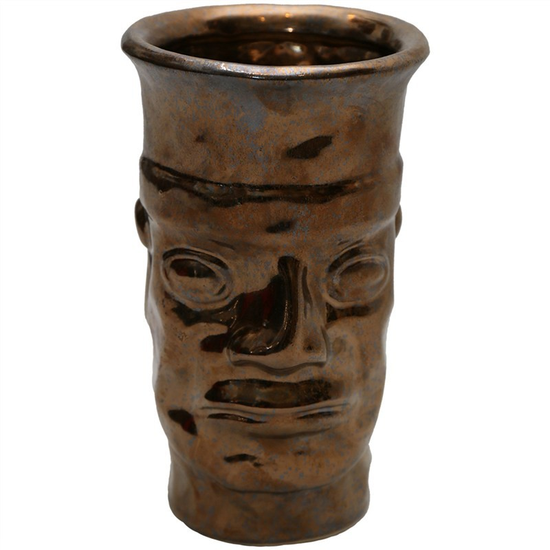Ancient Face Hand Crafted Ceramic Vase