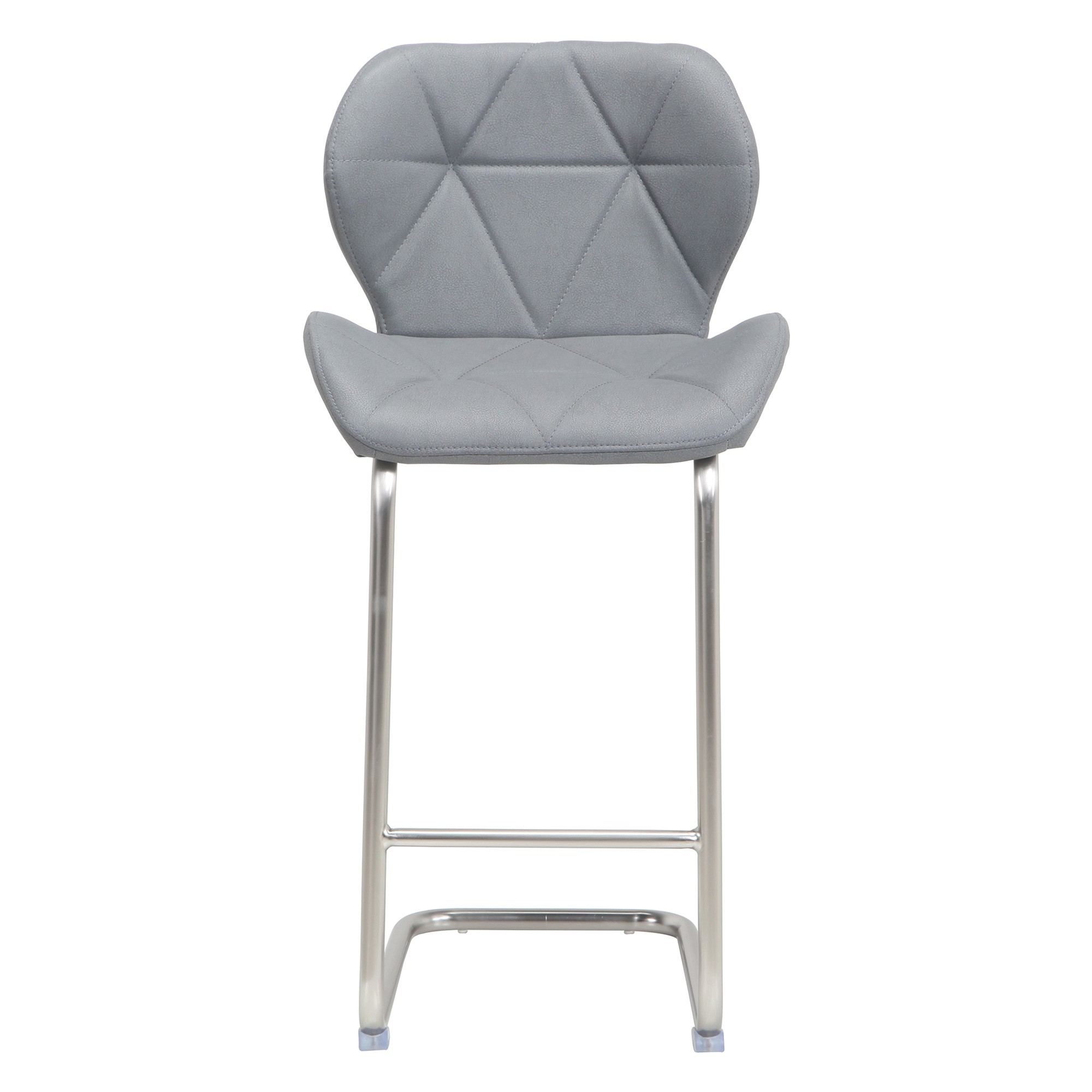 Sven Faux Leather Counter Stool, Grey