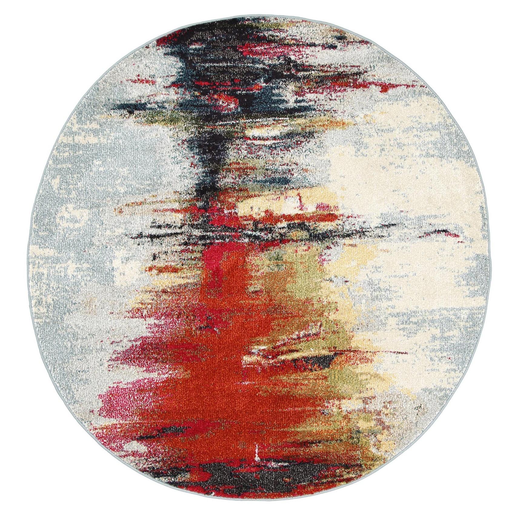 Symphony Art Modern Round Rug, 160cm
