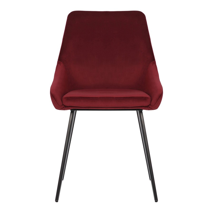 Shogun Commercial Grade Velvet Fabric Dining Chair, Burgundy
