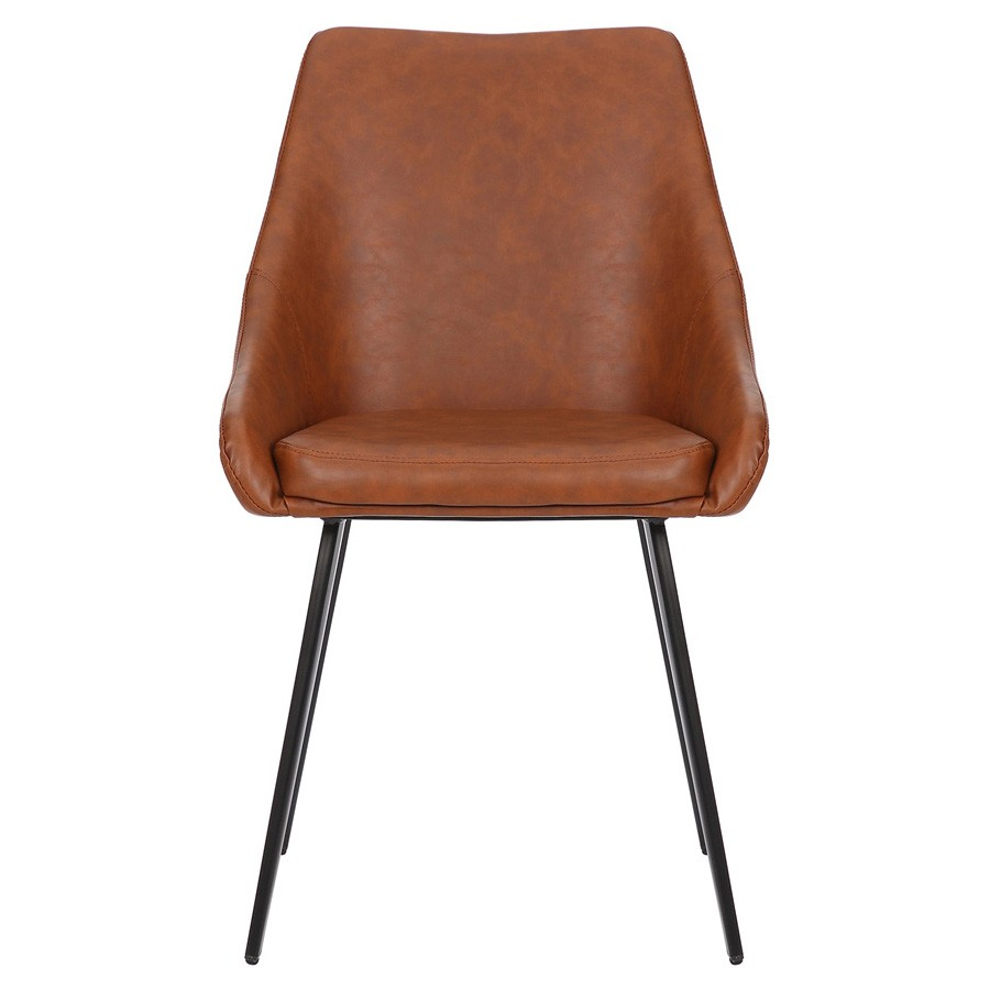 Shogun Commercial Grade Faux Leather Dining Chair, Tan
