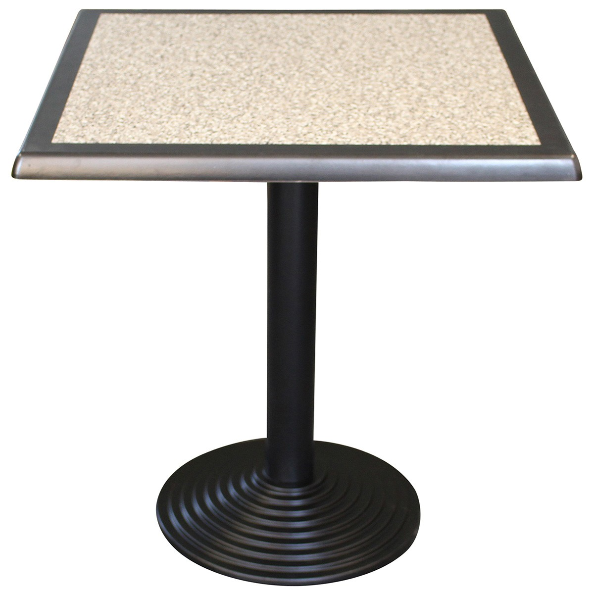 Cascina Commercial Grade Square Dining Table, 60cm, Pebble / Black