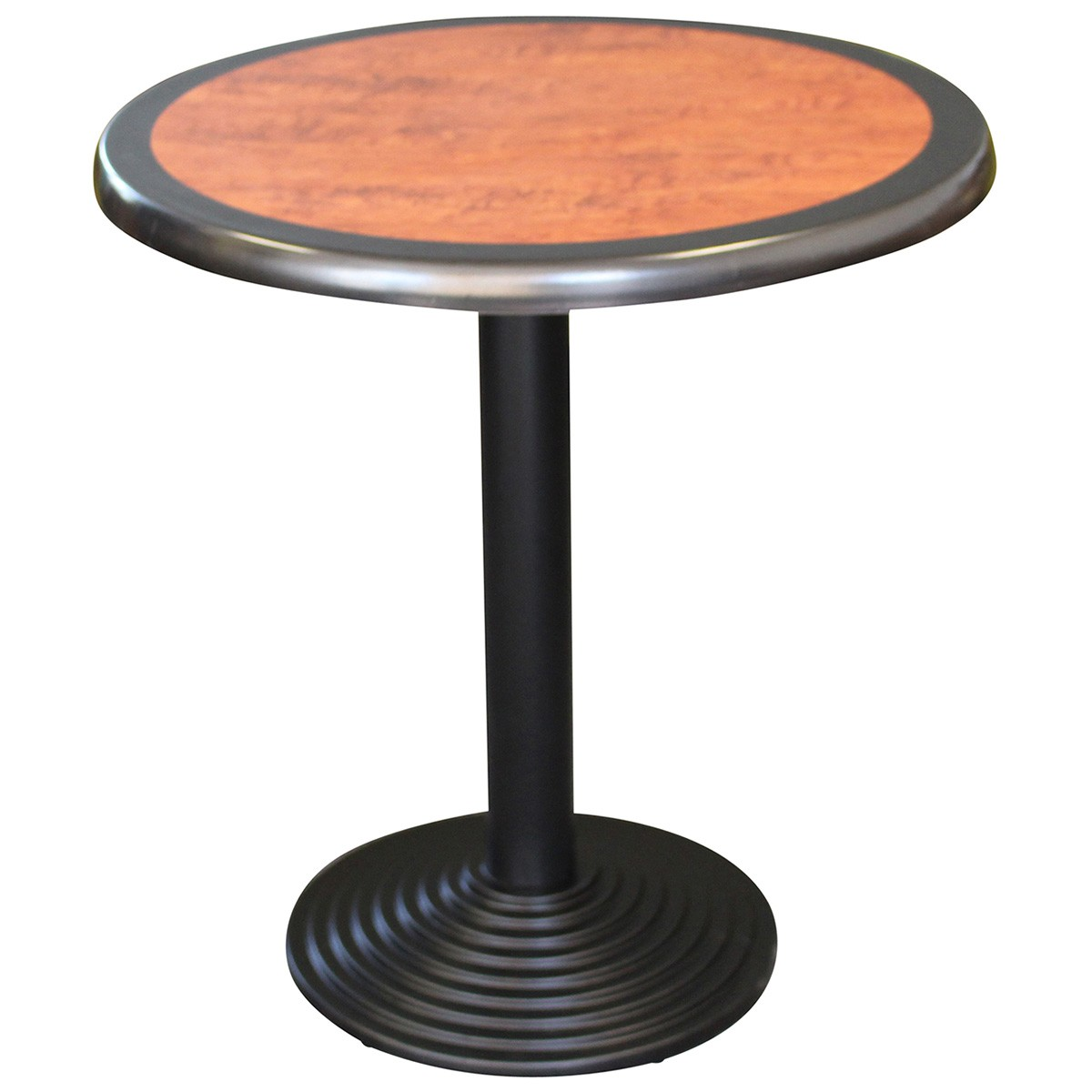 Cascina Commercial Grade Round Dining Table, 80cm, Cherrywood / Black