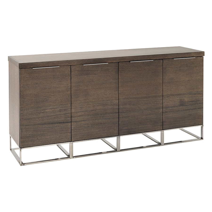 Zoka Victoria Ash Timber 4 Door Buffet Table, 180cm