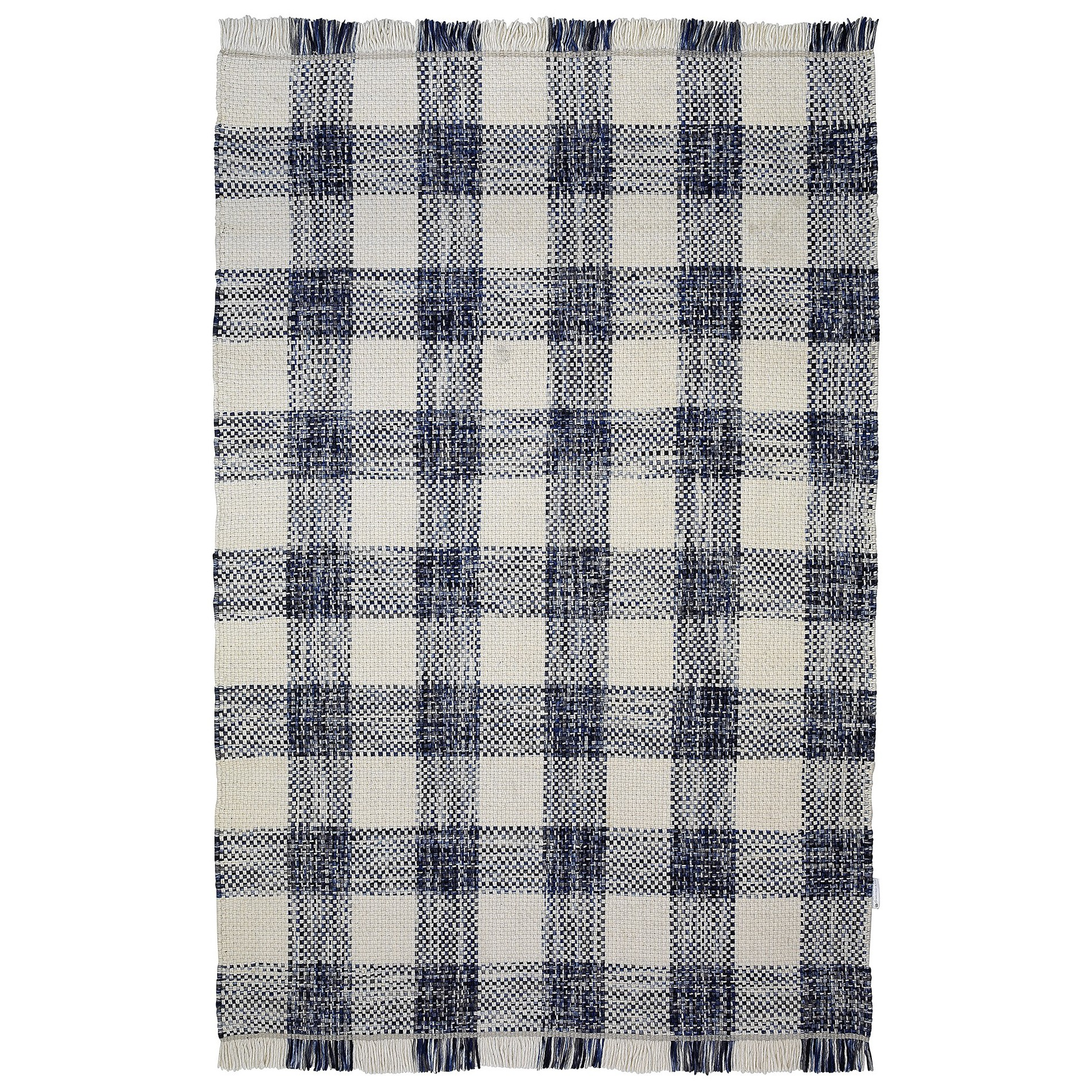 Tartan Traditional Wool Rug, 290x200cm, Blue