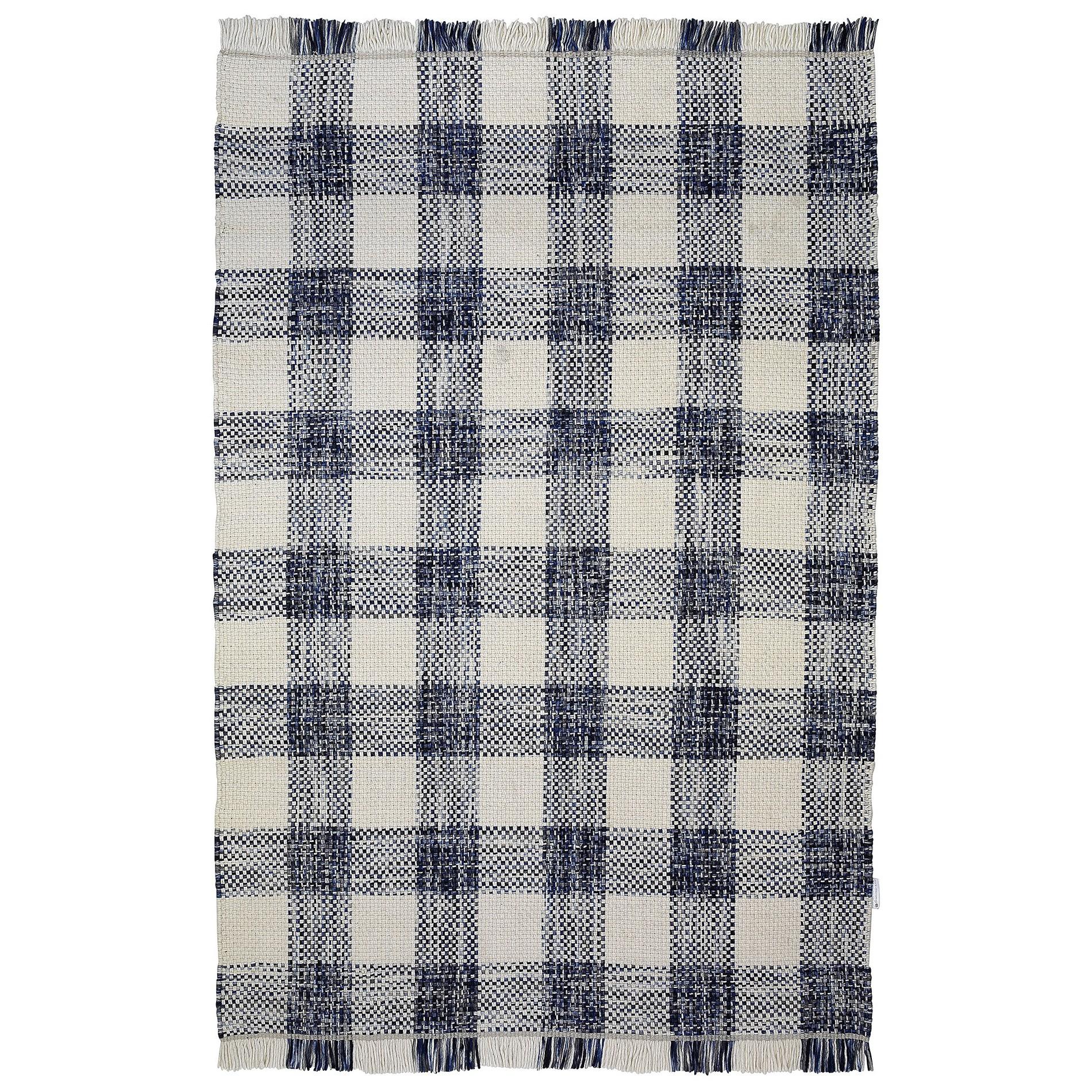 Tartan Traditional Wool Rug, 290x200cm, Blue