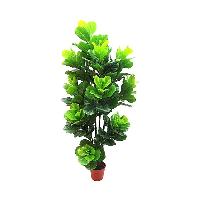 Potted Artificial Fiddle Leaf Fig Tree, 175cm